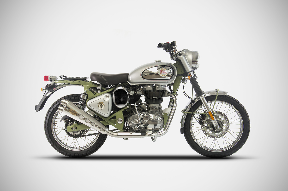 Royal Enfield Bullet Trials 500 Zard Slip on